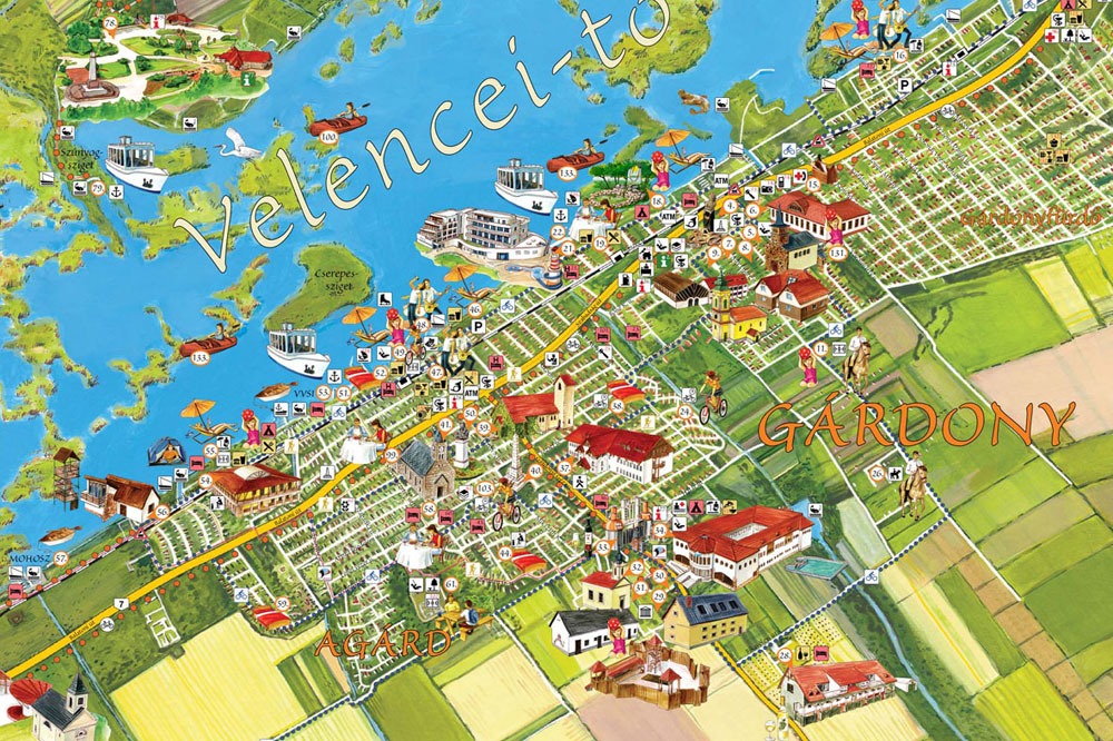 gárdony térkép A Velencei tó látványtérképen gárdony térkép